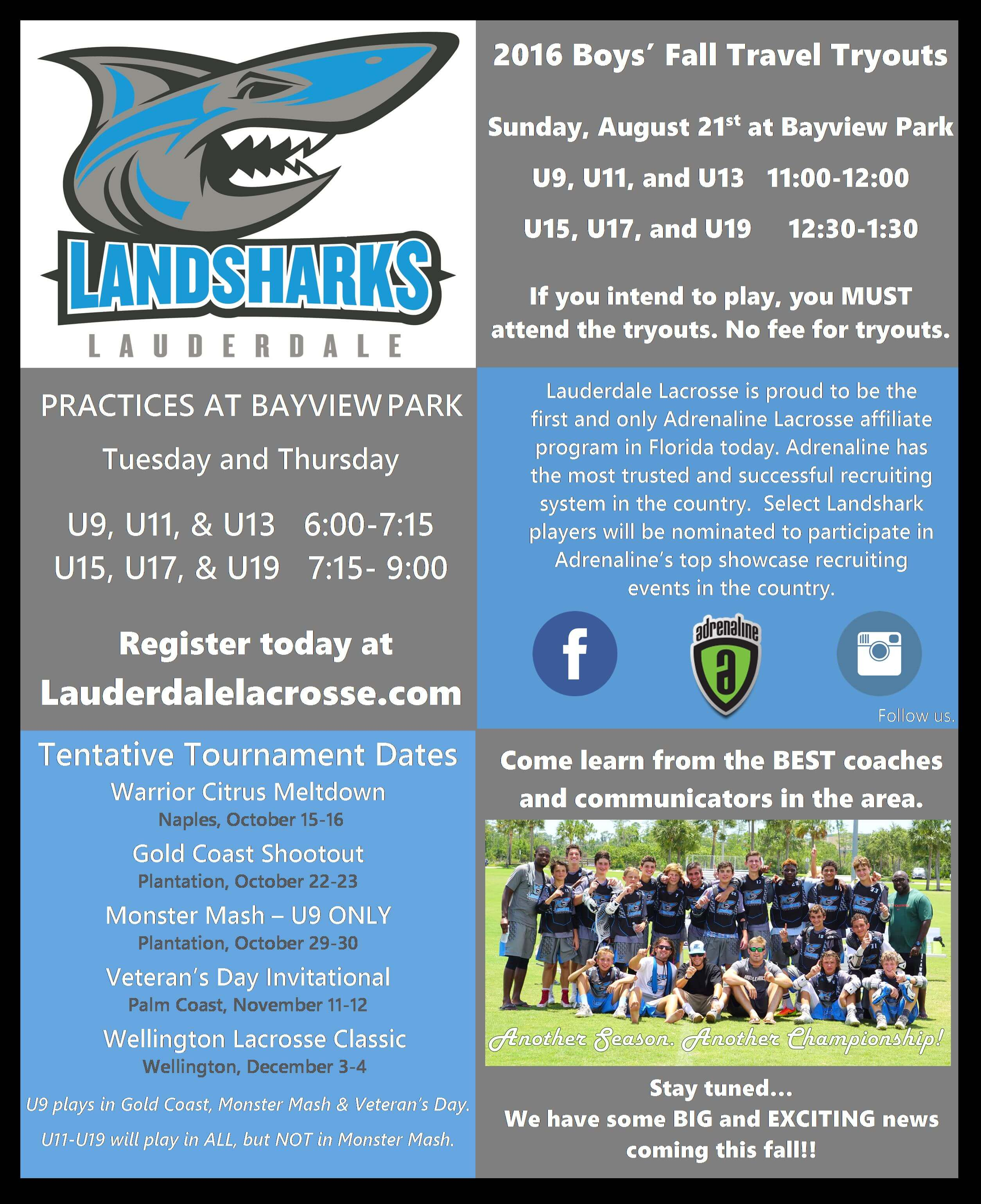 Landsharks Fall 2016